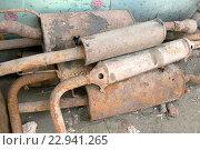 Ржавый металлолом. Стоковое фото, фотограф Измайлов Андрей Владимирович / Фотобанк Лори