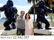 Valerio Mastandrea, Berenice Bejo during the photocall of the film Fai Bei Sogni. 48 edition of 'Quinzaine des realisateurs', parallel to the official... (2016 год). Редакционное фото, фотограф Maria Laura Antonelli / AGF/Maria Laura Antonelli / age Fotostock / Фотобанк Лори