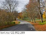 Тихая осень в Стегеборге (2013 год). Стоковое фото, фотограф Екатерина Давыдова / Фотобанк Лори