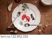 Макаруны, шоколад и миндаль. Стоковое фото, фотограф Екатерина Давыдова / Фотобанк Лори
