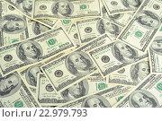 Банкноты 100 долларов, фон. Стоковое фото, фотограф Olena Kravchuk / Фотобанк Лори
