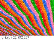 Купить «Разноцветные бумажные гирлянды», фото № 22992237, снято 30 марта 2011 г. (c) Тупиков Максим Борисович / Фотобанк Лори