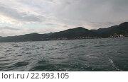 Купить «Пейзаж побережья Черного моря», видеоролик № 22993105, снято 24 мая 2016 г. (c) Roman Larchikov / Фотобанк Лори
