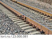 Купить «Железная дорога», фото № 23000081, снято 1 мая 2016 г. (c) Сергей Трофименко / Фотобанк Лори