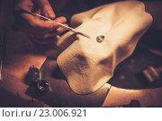 Купить «Desktop for craft jewellery making with professional tools.», фото № 23006921, снято 26 декабря 2015 г. (c) Andrejs Pidjass / Фотобанк Лори