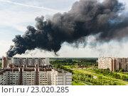Купить «Пожар в Зелеенограде», фото № 23020285, снято 31 мая 2016 г. (c) Володина Ольга / Фотобанк Лори