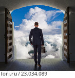 Купить «Businessman has found exit, concept», фото № 23034089, снято 11 мая 2016 г. (c) Владимир Мельников / Фотобанк Лори