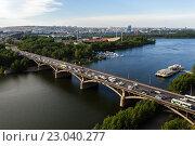 Купить «Мост через Енисей в Красноярске, Россия», иллюстрация № 23040277 (c) Андрей Орехов / Фотобанк Лори