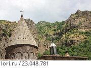 Купить «Геха́рд — монастырский комплекс, уникальное архитектурное сооружение, Армения», фото № 23048781, снято 22 июня 2015 г. (c) Людмила Травина / Фотобанк Лори
