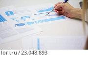 Купить «female hands with pen filling papers», видеоролик № 23048893, снято 18 марта 2016 г. (c) Syda Productions / Фотобанк Лори