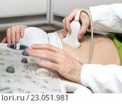 Ультразвуковое сканирование живота. Стоковое фото, фотограф Антон  Черственков / Фотобанк Лори