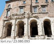 Купить «Фрагмент Театра Марцелла (Teatro di Marcello). Рим. Италия», фото № 23080093, снято 23 апреля 2016 г. (c) Екатерина Овсянникова / Фотобанк Лори