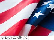 Купить «close up of american flag», фото № 23084461, снято 6 мая 2016 г. (c) Syda Productions / Фотобанк Лори