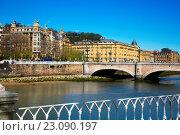 Купить «Day view of Sant Sebastian. Santa Catalina bridge», фото № 23090197, снято 21 апреля 2016 г. (c) Яков Филимонов / Фотобанк Лори
