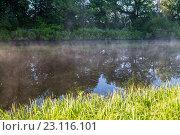 Туман над озером. Стоковое фото, фотограф Виктор Хван / Фотобанк Лори