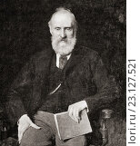 """Lord William Thomson Kelvin, 1824-1907. British physicist and mathematician. Photograph from the book""""Masterpieces of Orchardson"""". Редакционное фото, фотограф Classic Vision / age Fotostock / Фотобанк Лори"""