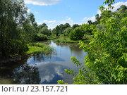 Купить «Парк в пойме реки Городни в Москве», эксклюзивное фото № 23157721, снято 22 июня 2016 г. (c) lana1501 / Фотобанк Лори