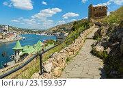Купить «Генуэзская крепость Чембало постройки начала в 1357 году. Балаклава в Крыму», фото № 23159937, снято 9 июня 2016 г. (c) Юлия Машкова / Фотобанк Лори