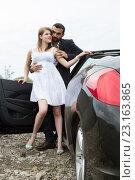 Купить «Свидание в автомобиле», фото № 23163865, снято 18 июня 2016 г. (c) Момотюк Сергей / Фотобанк Лори