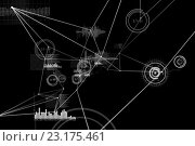 Купить «Various graphs and connectivity points», фото № 23175461, снято 17 августа 2019 г. (c) Wavebreak Media / Фотобанк Лори
