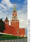 Купить «Спасская башня Московского Кремля», фото № 23179061, снято 24 сентября 2015 г. (c) Денис Ларкин / Фотобанк Лори