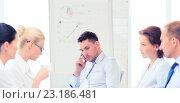 Купить «stressed male boss on business meeting», фото № 23186481, снято 9 июня 2013 г. (c) Syda Productions / Фотобанк Лори