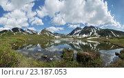 Купить «Панорама: горный массив Вачкажец на Камчатке», фото № 23187053, снято 21 июня 2016 г. (c) А. А. Пирагис / Фотобанк Лори