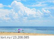 Купить «Крым, Евпатория, большое облако над морем», фото № 23208085, снято 9 июля 2020 г. (c) Овчинникова Ирина / Фотобанк Лори