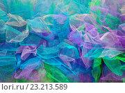 Купить «Background  multi-colored pieces of fabric», фото № 23213589, снято 29 июня 2016 г. (c) Татьяна Белова / Фотобанк Лори
