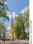 Купить «Петропавловский собор в Санкт-Петербурге, Россия», фото № 23219745, снято 23 мая 2015 г. (c) Anna P. / Фотобанк Лори