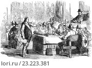 """Купить «In April 1653 Cromwell addressing the """"Rump"""" Parliament and demanding it establish a caretaker government of 40 members (drawn from the Rump and the army) and then abdicate.», фото № 23223381, снято 17 июня 2016 г. (c) age Fotostock / Фотобанк Лори"""