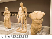 Купить «Classical Greek statues in the Heraklion Archeological Museum, Iraklio, Heraklion, Crete, Greece.», фото № 23223893, снято 10 мая 2016 г. (c) age Fotostock / Фотобанк Лори