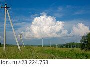 Кучевое облако. Стоковое фото, фотограф Антон Ильяшенко / Фотобанк Лори