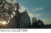 Купить «St. Albans Church in Copenhagen, Denmark», видеоролик № 23247869, снято 28 марта 2016 г. (c) Данил Руденко / Фотобанк Лори
