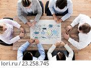 Купить «business team with scheme meeting at office», фото № 23258745, снято 10 октября 2014 г. (c) Syda Productions / Фотобанк Лори