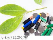 Купить «close up of green alkaline batteries», фото № 23260781, снято 3 июня 2016 г. (c) Syda Productions / Фотобанк Лори