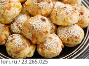 Купить «Бразильские сырные булочки», эксклюзивное фото № 23265025, снято 12 июля 2016 г. (c) Dmitry29 / Фотобанк Лори