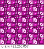 Купить «Бесшовный фон из геометрических рисунков», иллюстрация № 23266057 (c) Елена Арсентьева / Фотобанк Лори