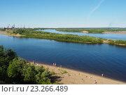 Купить «Река Печора в районе города Печора,Коми», фото № 23266489, снято 26 мая 2019 г. (c) Сергей Гаврилов / Фотобанк Лори