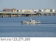 Купить «Автомобильный мост Саратов - Энгельс», фото № 23271265, снято 17 июля 2016 г. (c) Pavel Denisov / Фотобанк Лори