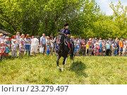 Купить «Девочка казачка скачет на лошади», фото № 23279497, снято 18 июня 2016 г. (c) Акиньшин Владимир / Фотобанк Лори