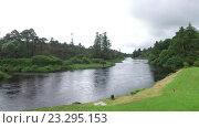Купить «men fishing on river bank in ireland valley 6», видеоролик № 23295153, снято 23 июня 2016 г. (c) Syda Productions / Фотобанк Лори