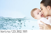 Купить «happy mother kissing adorable baby», фото № 23302181, снято 22 декабря 2007 г. (c) Syda Productions / Фотобанк Лори