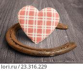 Купить «Сердце и подкова», фото № 23316229, снято 29 января 2014 г. (c) Кропотов Лев / Фотобанк Лори