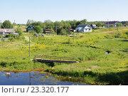 Купить «Деревня Куйтежа. Республика Карелия», фото № 23320177, снято 15 июня 2016 г. (c) Дмитрий Шишков / Фотобанк Лори