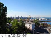 Панорама морского порта. Стоковое фото, фотограф Юлия Желтенко / Фотобанк Лори