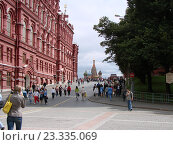 Купить «Дорога к Красной площади. Москва», фото № 23335069, снято 4 августа 2008 г. (c) Александр Карпенко / Фотобанк Лори