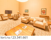 Купить «Modern interior of dining room», фото № 23341661, снято 19 июня 2015 г. (c) Elnur / Фотобанк Лори