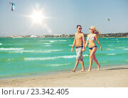Купить «couple walking on the beach», фото № 23342405, снято 4 августа 2012 г. (c) Syda Productions / Фотобанк Лори