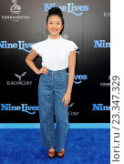 Haley Tju - Hollywood/California/United States - NINE LIVES FILM PREMIERE (2016 год). Редакционное фото, фотограф Patrick Rideaux / age Fotostock / Фотобанк Лори